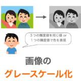 【C言語】画像をグレースケール化