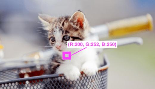 C言語での画像の画素値取得