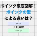 C言語のポインタの型の意味は?