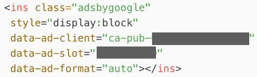 HTML中のサイト運営者ID