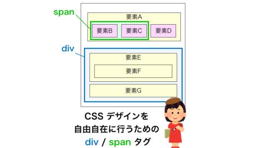 CSS デザインを自由自在に行うための div / span タグ