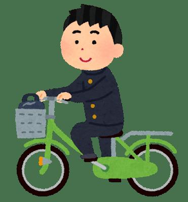 自転車に乗ってる図