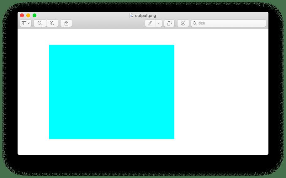 長方形の描画結果
