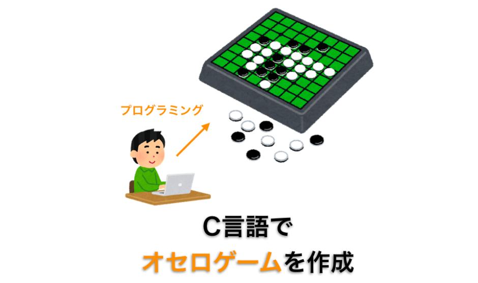 オセロゲームのC言語ソースコード紹介ページのアイキャッチ