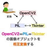 【Python】PIL ⇔ OpenCV2 ⇔ Tkinter 画像オブジェクトの相互変換
