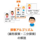 【C言語】データの探索アルゴリズム(線形探索・二分探索)について解説