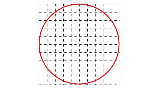 小正方形に分割する様子