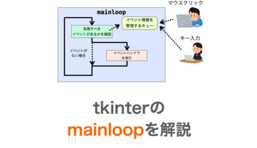 【Python】tkinterのmainloopについて解説