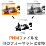 【C言語/画像処理】PPM・PGM・PBMの相互変換プログラム【ライブラリ不要】