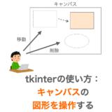 Tkinterの使い方:Canvasクラスで描画した図形を操作する
