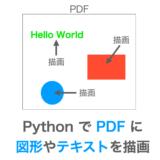 PythonでPDFに図形やテキストを描画する方法の解説ページアイキャッチ