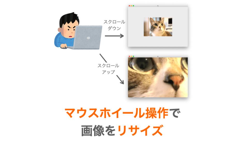 マウスホイール操作で画像をリサイズするアプリの作成方法解説ページアイキャッチ