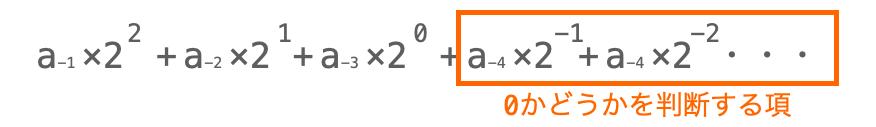 小数点以下の値の2進数変換手順7