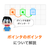 【C言語】ポインタのポインタ(ダブルポインタ)を解説【図解】