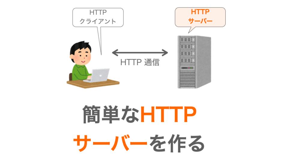 HTTPサーバーの作り方の解説ページアイキャッチ