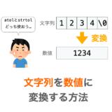 文字列の数値への変化方法の解説ページアイキャッチ
