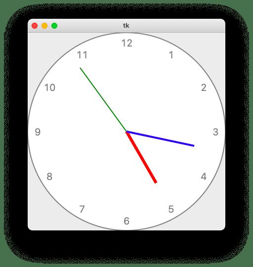 スクリプト実行によって起動するアプリの画面