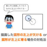 【Python/tkinter】キャンバスに描画した図形の左上が欠ける・図形の位置が左上に寄る時の対処法