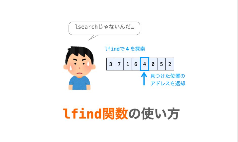 lfind関数の解説ページアイキャッチ