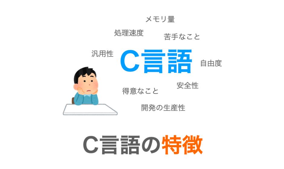 C言語の特徴のまとめページのアイキャッチ