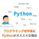 Pythonがプログラミング初学者にオススメな理由