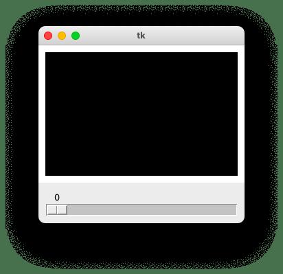 スケールウィジェットの利用例として示したアプリの起動画面