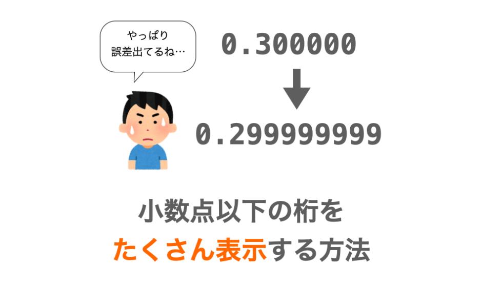 printfで小数点以下の桁をたくさん表示する方法の解説ページアイキャッチ